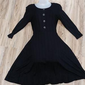 Black flowy babdoll dress!